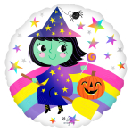 Rainbow Witch Standard HX Foil Balloons S40 - 5 PC