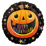Smiley Pumpkin Standard HX Foil Balloons S40 - 5 PC