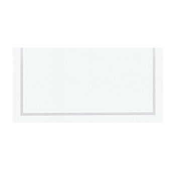 Classic Silver Placecards 8.9cm - 12 PKG/50