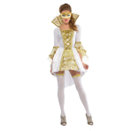 Adults Venezia Venetian Costume - Size 10-12 - 1 PC