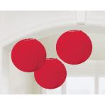 Red Paper Lanterns 20cm - 6 PKG/3