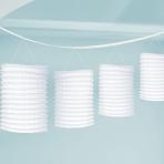 White Paper Lantern Garlands 3.65m - 6 PC