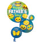 """Happy Father's Day Emoticons SuperShape Foil Balloons 22""""/55cm x 28""""/71cm P35 - 5 PKG"""