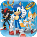 Sonic the Hedgehog Paper Plates 18cm - 6 PKG/8