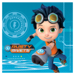 Rusty Rivets Luncheon Napkins 33cm - 6 PKG/16