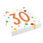 Confetti Birthday 30th Birthday Luncheon Napkins 33cm - 10 PKG/20