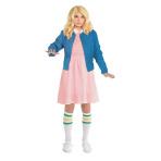 Stranger Things Eleven Costume - Age 12-14 Years - 1 PC