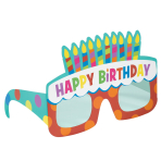 Dots & Stripes Birthday Cake Paper Glasses - One size fits most - 6 PKG/6
