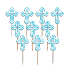 Religious Blue Party Picks - 15 PKG/36