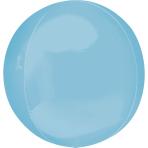 """Pastel Blue Orbz Packaged Foil Balloons 15""""/38cm w x 16""""/40cm h G20 - 5 PC"""