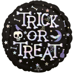 Trick or Treat Iridescent Standard Foil Balloons S55 - 5 PC
