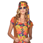 Blue Hippie Heart Glasses - 1 PC