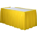 Sunshine Yellow Plastic Table Skirts 4.26m x 73cm - 6 PC
