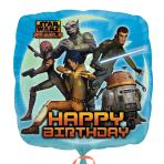 Star Wars Rebels Happy Birthday Standard Foil Balloons S60 - 5 PC