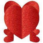 Mini Glitter Heart 3D Centrepieces - 12 PKG/3