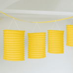 Sunshine Yellow Lantern Garlands 3.65m - 6 PC