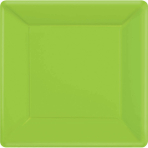 Kiwi Green Square Paper Plates 18cm - 6 PKG/20