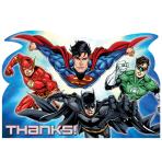 Justice League Thank You Cards & Envelopes - 6 PKG/8