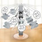 Sparkling Silver Anniversary Foil Centrepieces - 6 PC