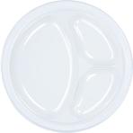Clear Plastic Divider Plates 26cm - 10 PKG/20
