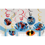 The Incredibles 2 Swirl Decorations - 6 PKG/12