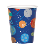 Blast Off Birthday Paper Cups 266ml - 12 PKG/8