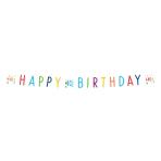Confetti Birthday 40th Birthday Letter Banners 1.8m - 10 PC