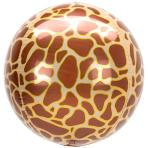 Animalz Giraffe Print Orbz Foil Balloons G20 - 5 PC