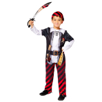 Pirate Boy Sustainable Costume - Age 8-10 Years - 1 PC