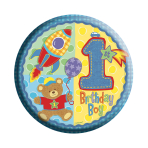 Age 1 Boy Badge (6.2cm) 6pkg