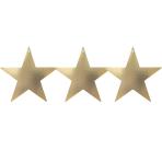 Gold Cutout Stars 12cm - 8 PKG/5