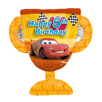 "Cars Trophy 5th Birthday SuperShape Foil Balloon 26""/66cm w x 22""/68cm h P38 - 5 PC"
