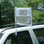 Just Married Car Flags 35.5cm x 45.7cm - 12 PC