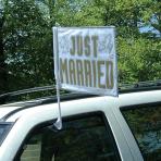Just Married Car Flag  - 35.5cm x 45.7cm 12 PC