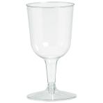 Clear Plastic Wine Glasses 162ml - 9 PKG/32
