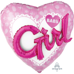 "Baby Girl Multi Foil Balloons 53""/134cm w x 39""/99cm h P75 - 5 PC"