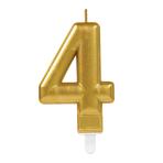 Gold Metallic Finish Candles #4 - 12 PC