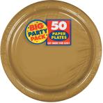 Gold Paper Plates 23cm - 6 PKG/50