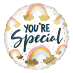 You're Special Painted Rainbow Standard HX Foil Balloons S40 - 5 PC