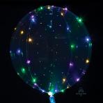 "Crystal Clearz Multi Colour LED Jumbo Balloons 18""/46cm P45 - 5 PC"