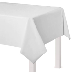 Frosty White Plastic Tablecovers 1.37m x 2.74m -12 PC