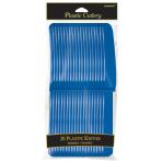 Bright Royal Blue Plastic Knives - 12 PKG/20
