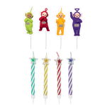 Teletubbies Pick Candles 5cm - 6 PKG/8