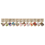 Sparkling Golden Anniversary Prismatic Photo Garlands 3.65m - 6 PC