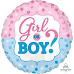 Gender Reveal Standard Foil Balloons S40 - 5 PC