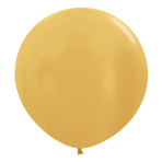 "Metallic Solid Gold R 570 Latex Balloons 24""/60cm - 3 PC"