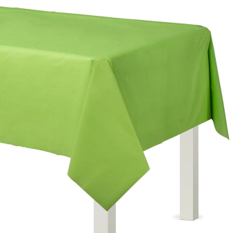 Kiwi Green Plastic Tablecovers 1.37m x 2.74m - 12 PC