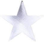Silver Foil Star Cutouts 23cm - 4 PKG