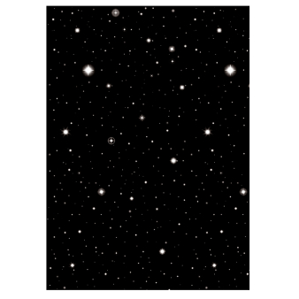 Hollywood Starry Night Room Scene Setters 1.2m high x 12.5m - 4 Rolls