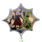 "Avengers Burst SuperShape Foil Balloon -  35""/89cm w x 29""/74cm h P38 5 PC"